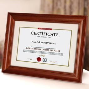 实木证书框a3a4木质授权毕业证奖状