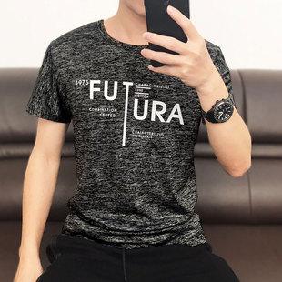 夏季男士短袖韩版潮流假两件t恤
