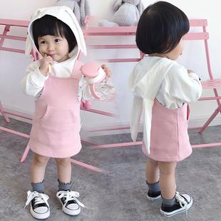 蓓莱乐婴儿夏装 衣服连衣裙子0周岁1公主裙3秋冬2女宝宝洋气背心裙