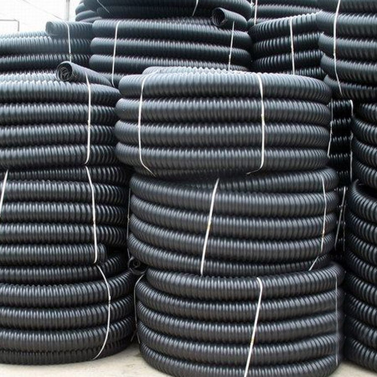 重庆货场厂家直销HDPE碳素螺旋波纹管电缆电线护套保护管穿线埋地