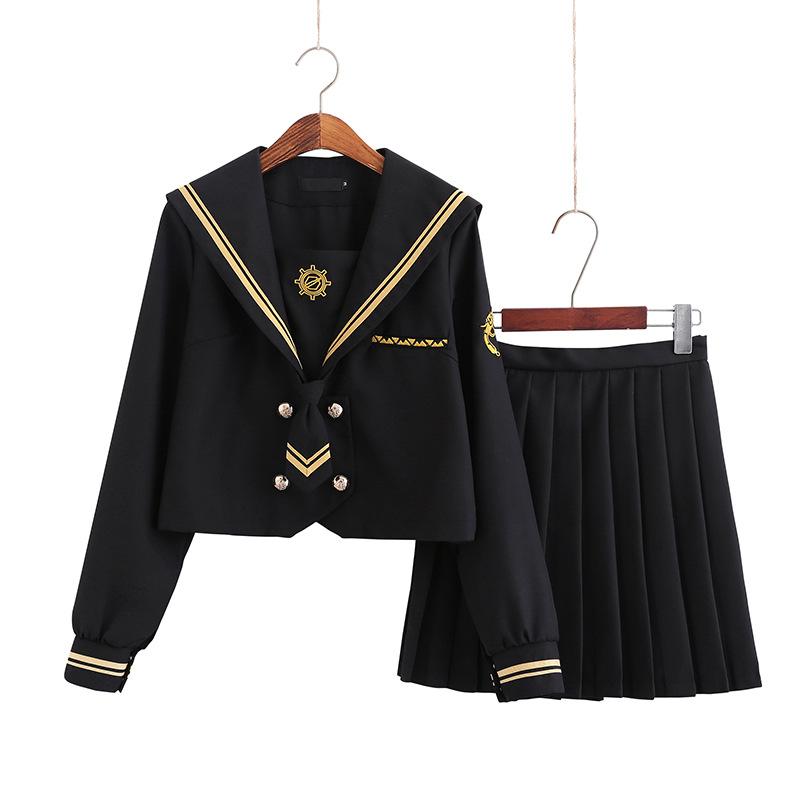 璀璨星空正统jk裙女高校短袖水手服