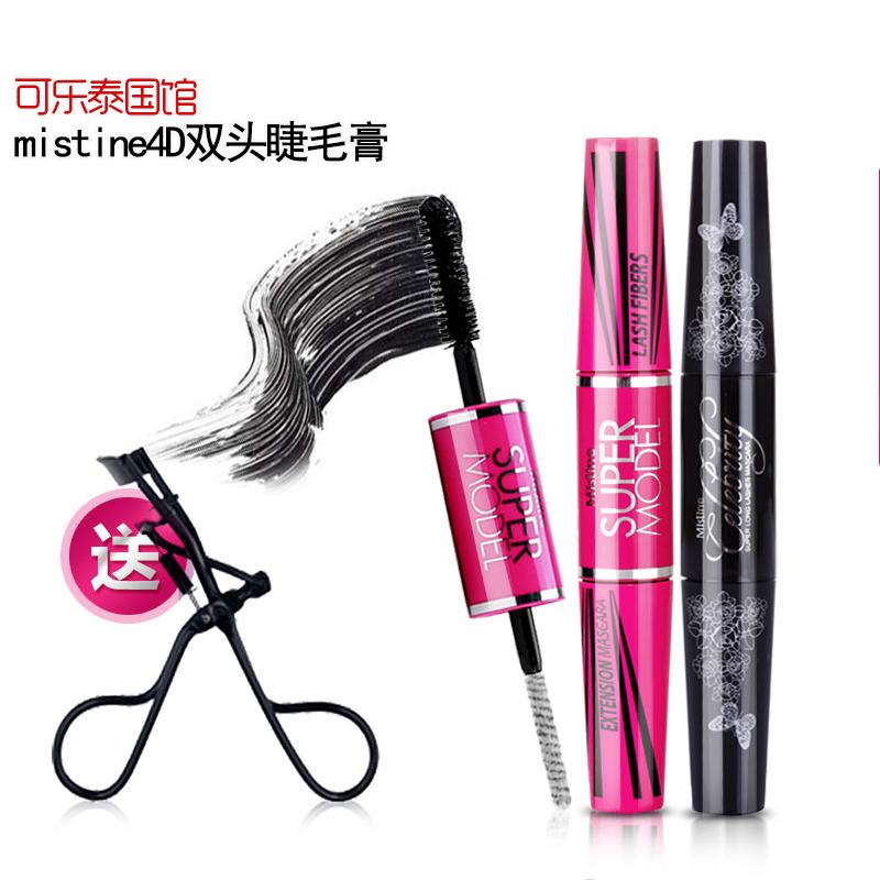 泰国Mistine睫毛膏4D持久自然纤长浓密防水卷翘不晕染不花妆