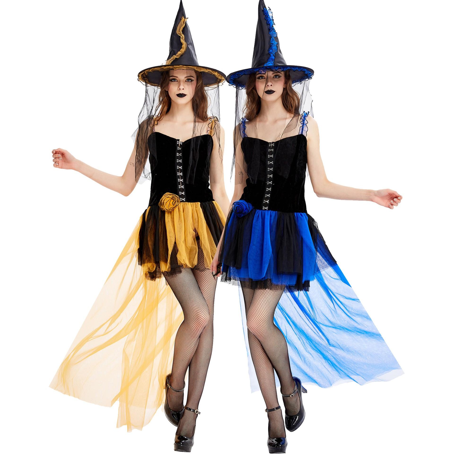 Halloween lady sexy prom costume女士万圣节服装角色扮演巫婆装