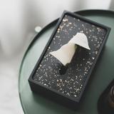 北欧ins水泥水磨石轻奢纸巾盒餐厅家用客厅简约创意多功能抽纸盒