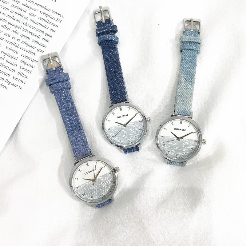 满26.90元可用7元优惠券ins chic女款中学生韩版简约手表