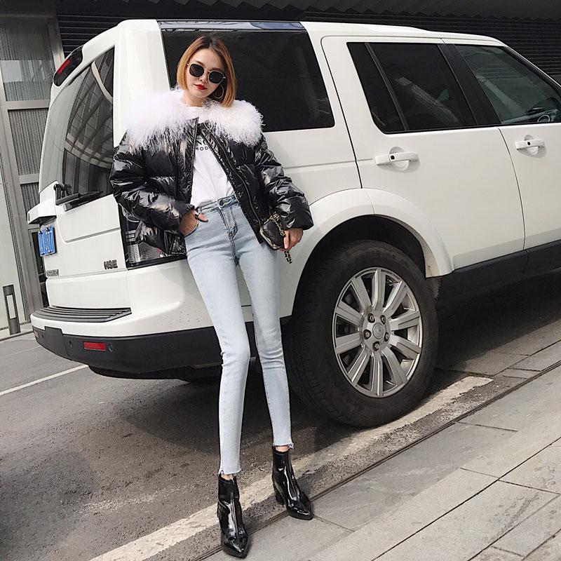 浅色牛仔裤女加绒加厚高弹力修腿显瘦韩版冬季浅蓝高腰小脚长靴裤