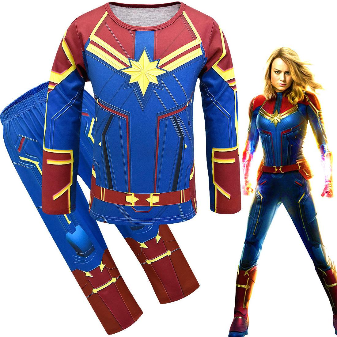 新款动漫cosplay复仇者联盟4服装惊奇队长漫威电影周边万圣节演出