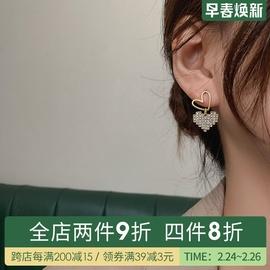 愛心耳環2021年新款潮網紅款純銀耳釘無耳洞耳夾女耳飾氣質高級感圖片