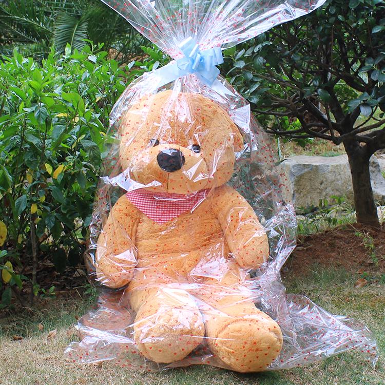 厂家直销毛绒玩具娃娃袋大熊袋子塑料包装袋印花透明袋娃娃礼品袋