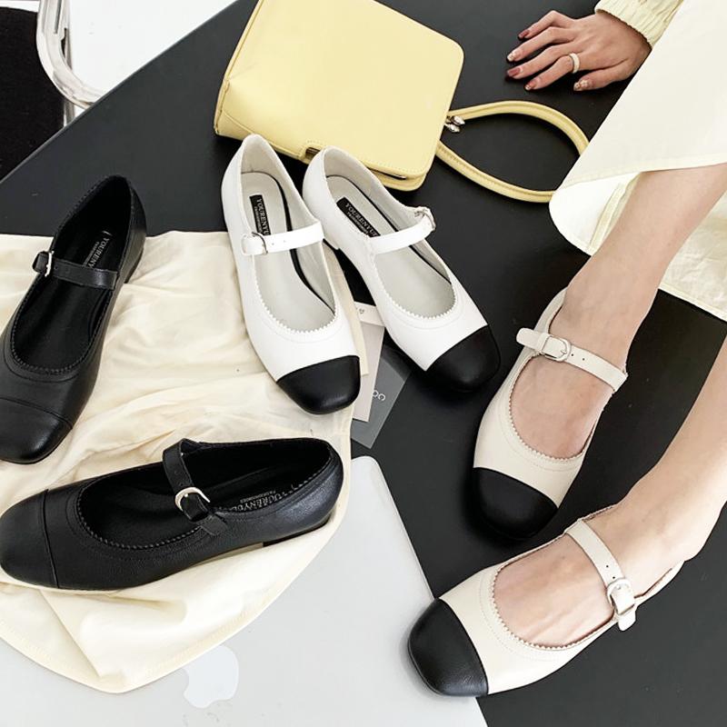 2021春新款小香风玛丽珍复古单鞋