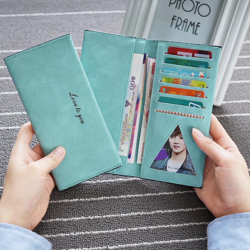 2016 новая Корейская версия Ms бумажник большой zip вокруг slim бумажник карты для студентов скрабов деньги клип женщин кожаная куртка