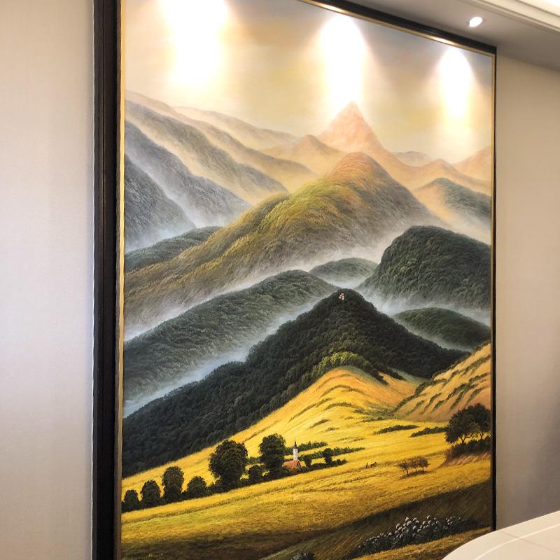 入户玄关欧式客厅餐厅轻奢风景壁画五折促销