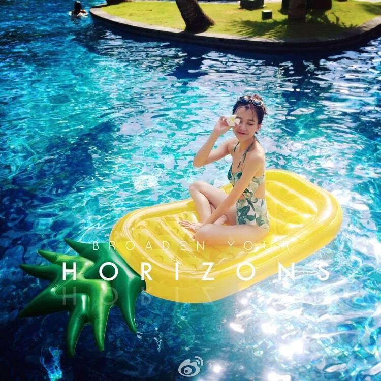 Пакет отправьте новый 180cm гигант феникс груша ананас финикс груша плавающий поплавок кровать плавать круг