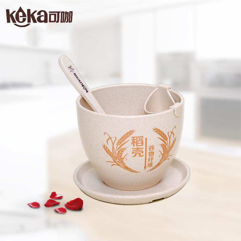 可咖小麦纤维环保茶杯过滤网茶杯咖啡杯茶杯谷纤维稻壳纤维泡茶