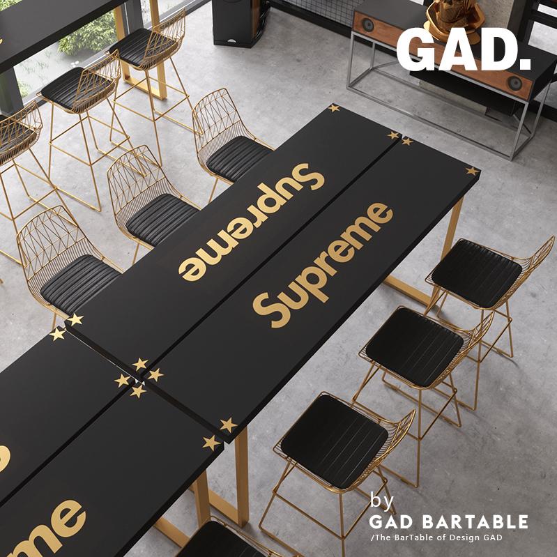 Черное золото может место бар кофе магазин молочный чай магазин starbucks дерево опираться на стена бар стол домой полоса стол ходули стол