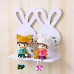 创意卧室装饰架客厅隔板壁挂墙面搁物架墙壁花架小兔子墙上置物架