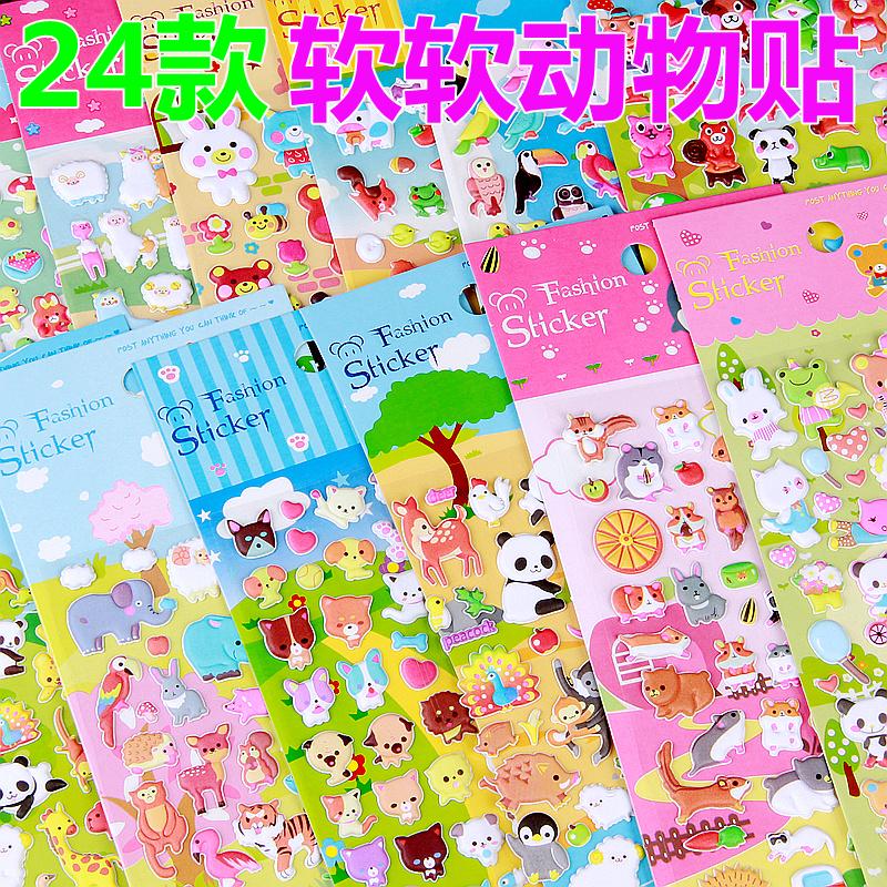 Полный 38 бесплатная доставка 24 модель мультфильм животное ребенок наклейки stickers автомобиль паста наклейки дети наклейки