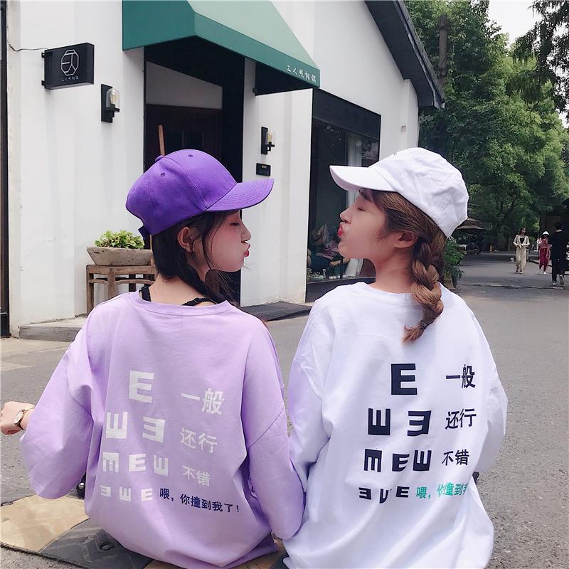 夏季宽松百搭韩版bf怪味少女闺蜜装ulzzang短袖t恤女学生半袖上衣