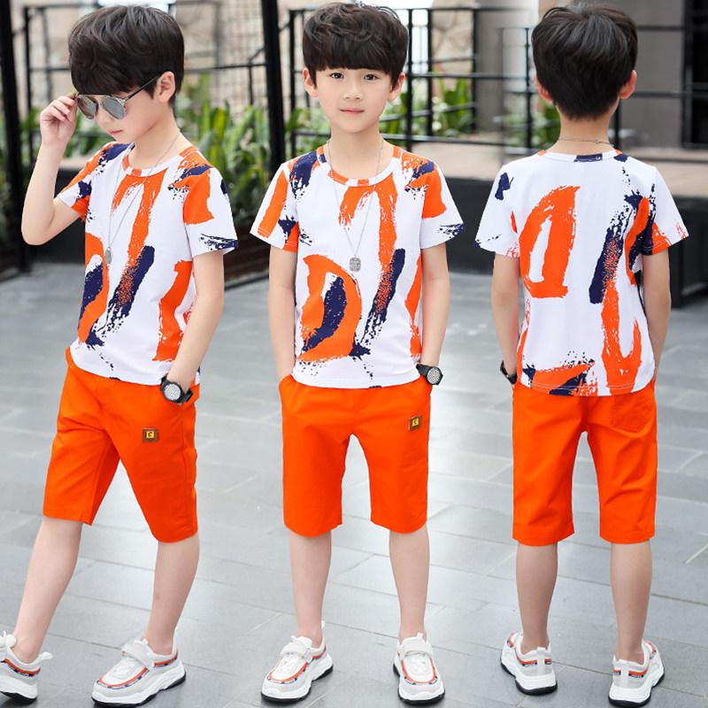 童装男童男孩夏装套装2020新款夏款洋气帅气运动短袖韩版大儿童潮