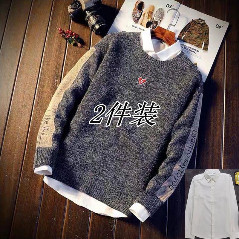 毛衣男士针织衫冬季新款圆领韩版学生潮流加厚款毛线衣服宽松毛衫