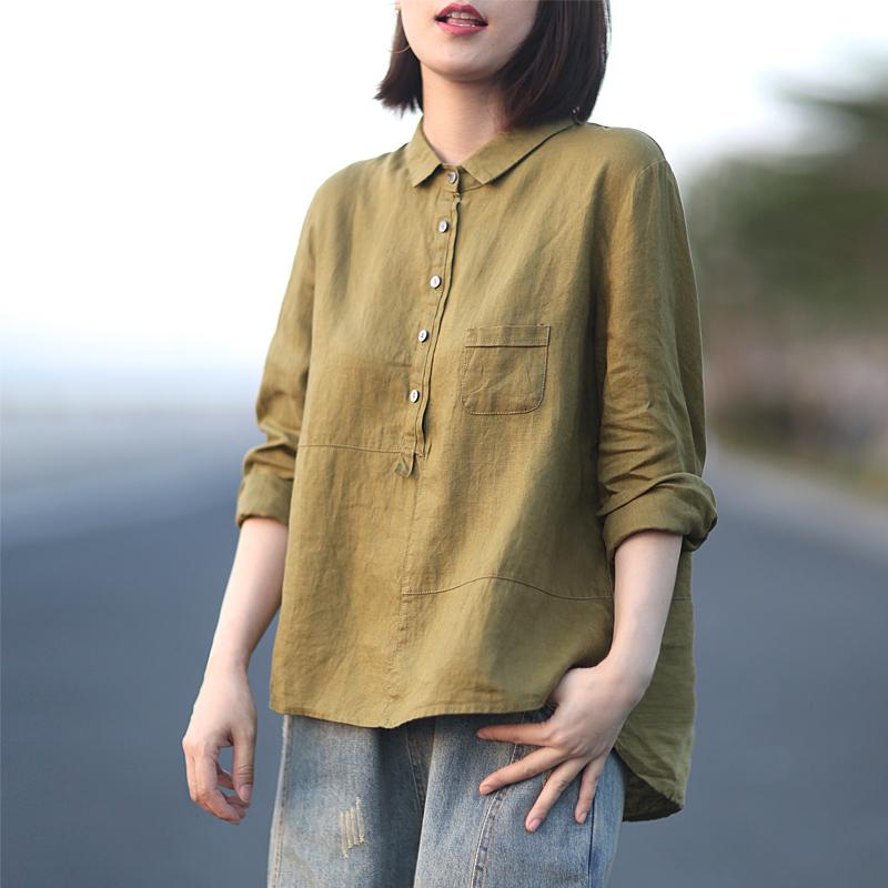 12-02新券晓说早秋新品文艺休闲宽松随性衬衫