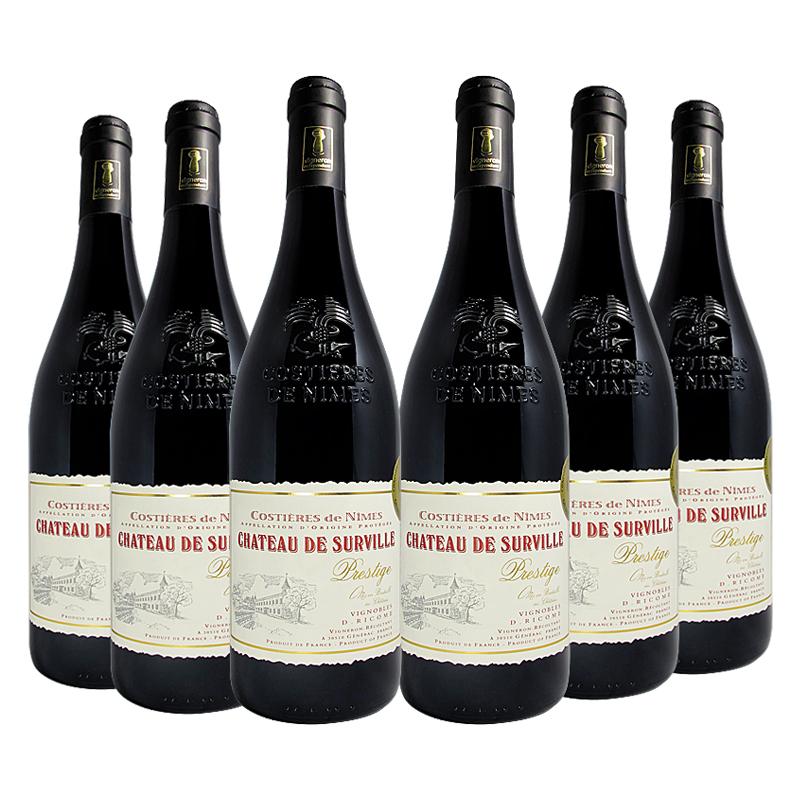 6瓶法国红酒chateau城堡庄园AOP级葡萄酒原瓶进口红酒整箱