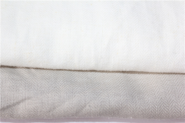 Brand fabric gray this white jacquard yarn dyed linen fabric solid color shirt dress pants hand DIY