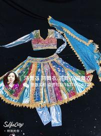 鸿舞衣,印度舞蹈服装订做,大人小孩同款同价,四件套