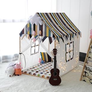 网红ins实木儿童帐篷公主城堡游戏屋宝宝室内大房子婴儿玩具床角价格