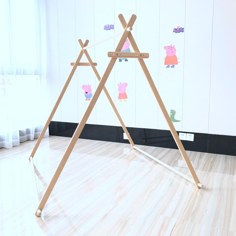 DIY实木印第安儿童帐篷支架ins宝宝木架玩具屋室内游戏屋公主房子