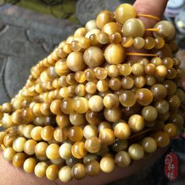 天然无优化南非金虎眼宝石珠宝金圆珠DIY散珠半成品手串项链配珠图片