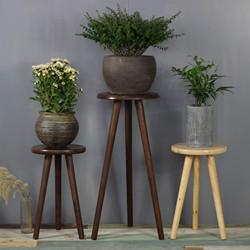 全实木客厅绿萝吊兰花架子北欧简约木头边几室内盆景置物架新中式