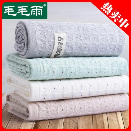 中国风格男女复古蜂巢格纹纱布纯棉毛巾洗脸洁面巾吸水透气不掉毛