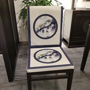 新中式现代简约红木沙发坐垫椅垫太师座垫椅子垫子餐椅实木椅防滑