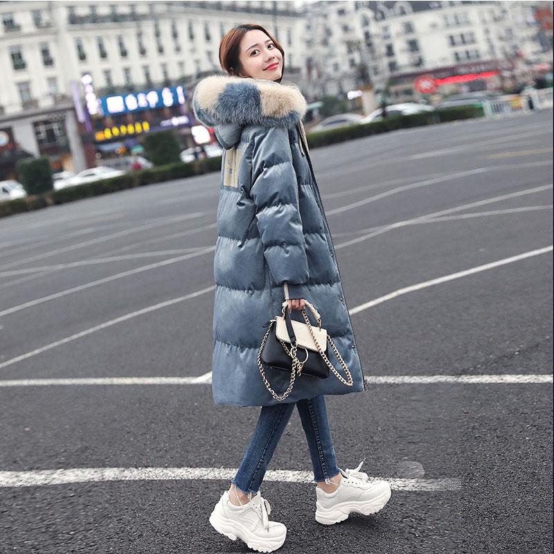 羽绒服女2019年新款爆款大毛领中长款冬季外套时尚韩版东大门过膝 thumbnail