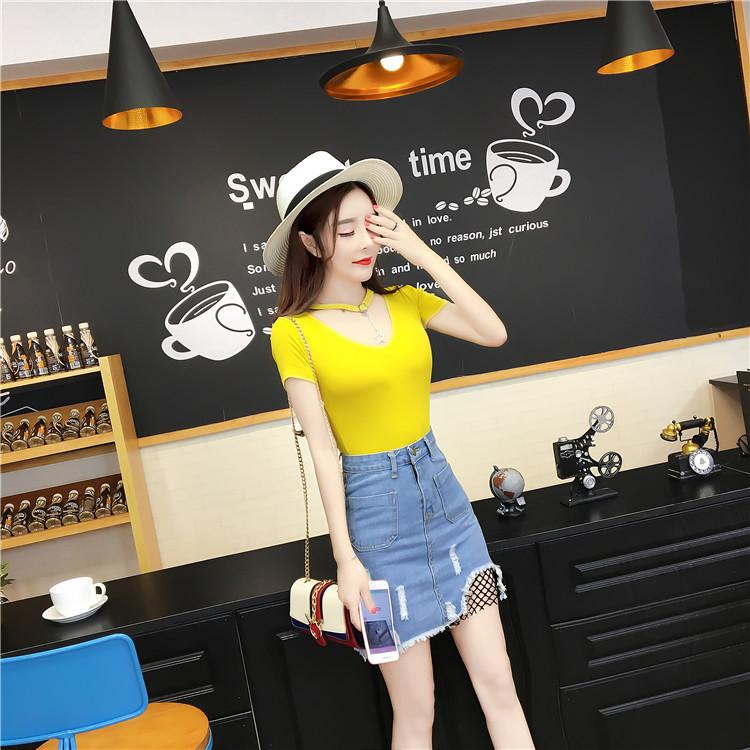 夏天套装女装2019夏季新款潮韩版时尚气质淑女性感牛仔包裙两件套