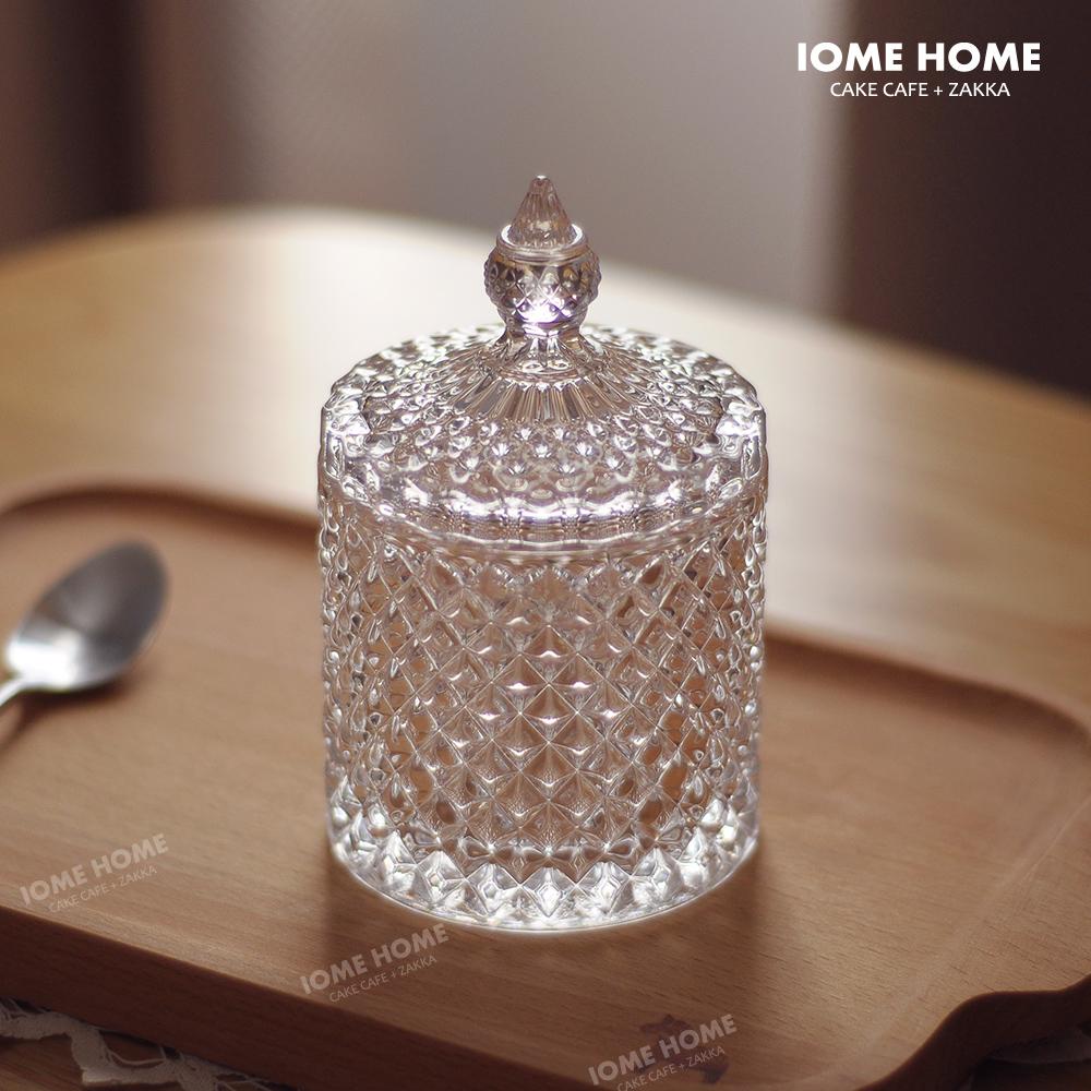 Качественный импортный товар красивый кристалл стекло рельеф в коробку шкатулка хлопок коробка хранение декоративный бак