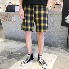 19夏装1夏季男士短裤休闲裤大码格子潮牌裤子港风 BK107 P35