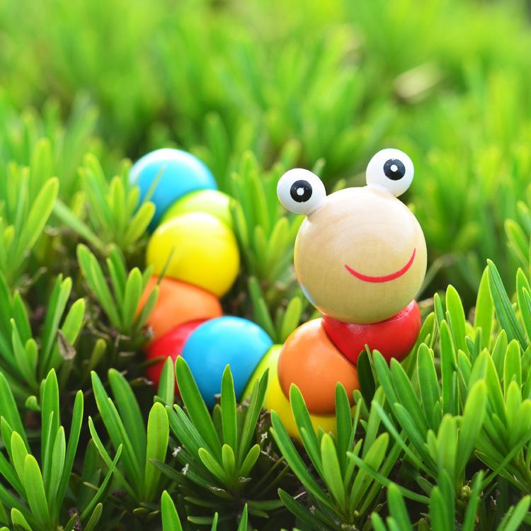 Разнообразие цвет деревянный гусеница ребенок головоломка категория игрушка пестрый твист шаг моделирование маленькая девочка маленькая девочка насекомое милый куклы