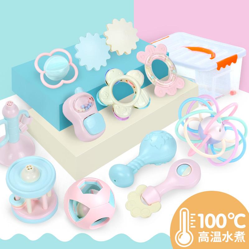 新生婴儿宝宝手摇铃玩具0-1岁手抓3-6-12个月 益智早教女孩男孩