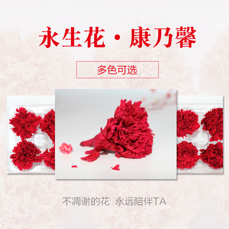 永生花干花保鲜花玫瑰康乃馨花束礼盒手工制作材料