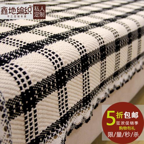 Сетка серия четыре сезона универсальный дерево подушки на диване хлопок конопля подушки на диване ткань скольжение грубый ткань синь земля ткать