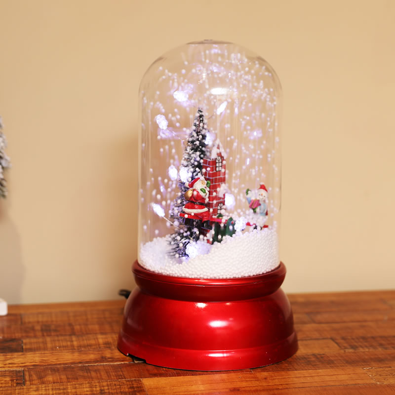 New Christmas decorations creative snow lights music lights cylindrical lights for girls and children