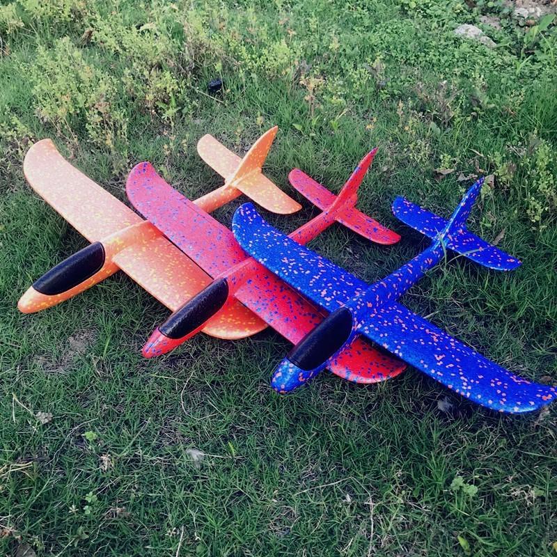 [想不到鞋子飞盘,飞碟,竹蜻蜓类]超大儿童耐摔手抛泡沫滑翔机户外投掷航月销量1件仅售5.36元