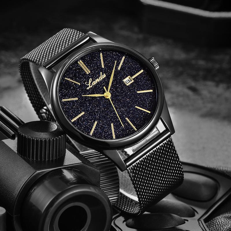 兰度星空10号超薄概念男士手表防水时尚潮流2018新款网红抖音同款
