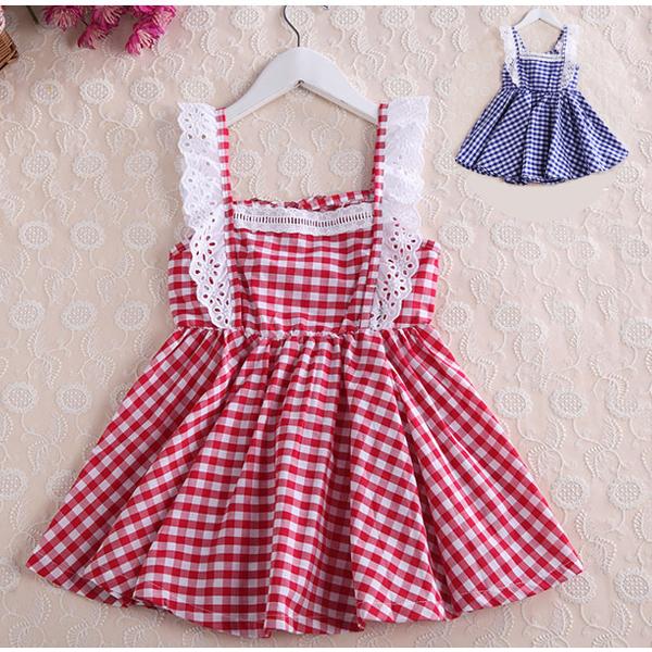 Дети носят платья, девушки летом 2015 года Новый корейский кружева камзол платье принцессы платье 3-8 x от Kupinatao
