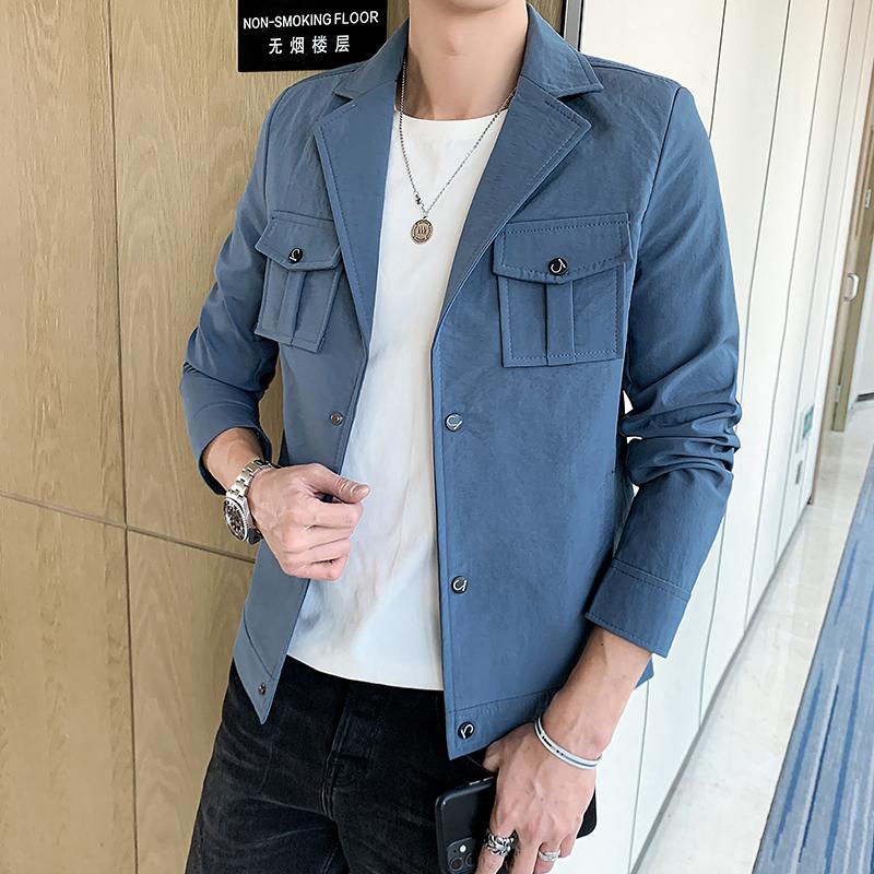 春季新款时尚瘦小个子休闲外套小码男装修身韩版帅气夹克JK16-P55