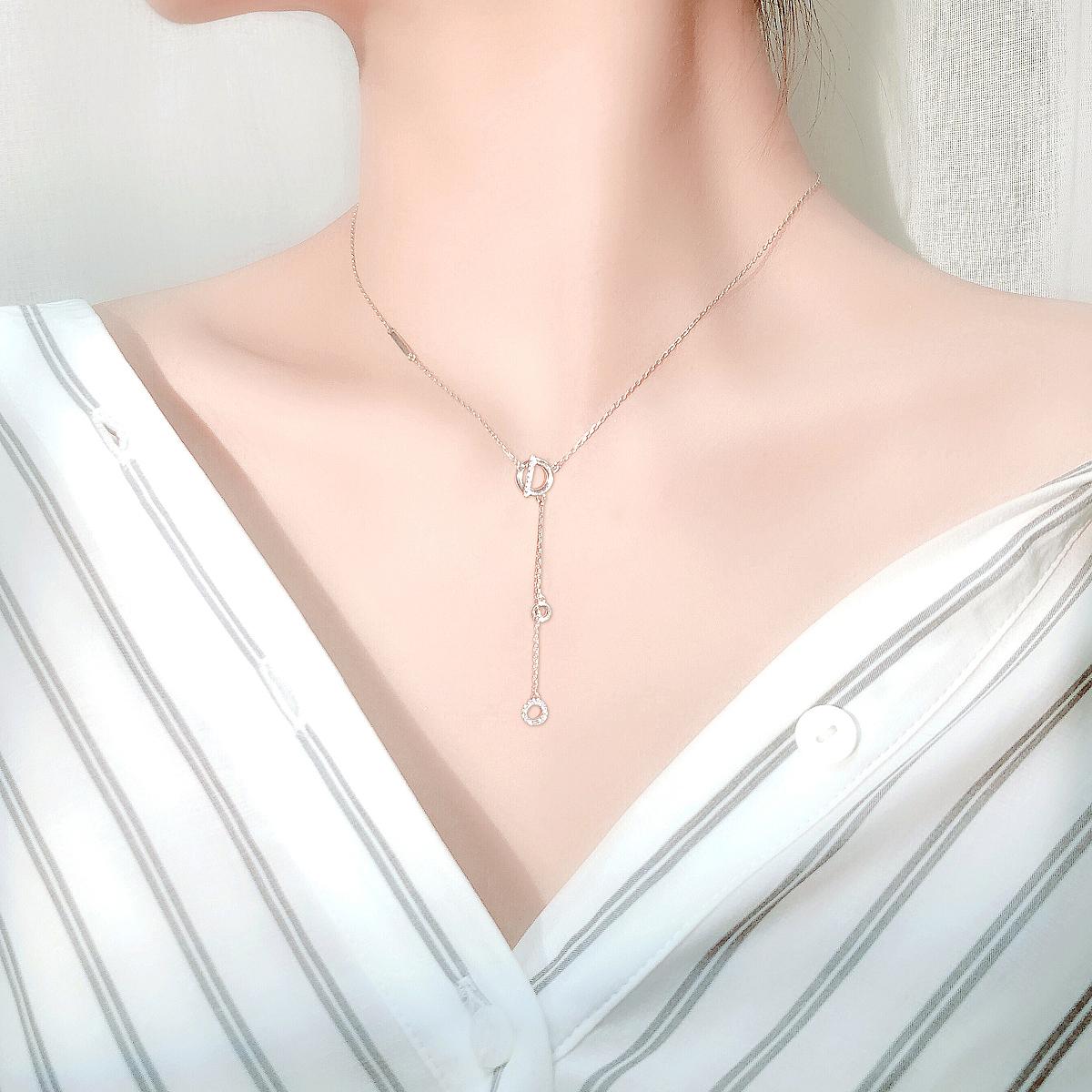 (用3元券)高级感轻奢简约女潮网红纯银项链