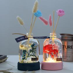 香薰永生花满天星礼盒浮游花植物标本漂浮瓶装饰摆件干花生日礼物