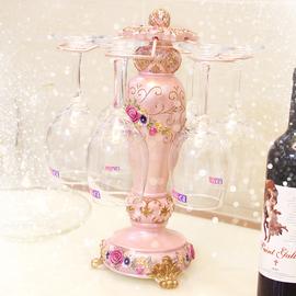 家用倒挂红酒杯架酒瓶架创意客厅酒柜套装现代简约高脚杯架红酒架
